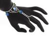 Hand Jewellery Drop Green Aurora Borealis